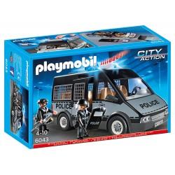 PLAYMOBIL 6043 FURGON DE POLICIA CON LUCES