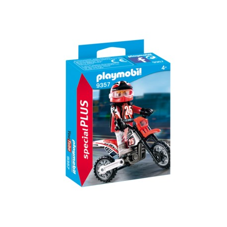 PLAYMOBIL ESPECIAL PLUS 9357 MOTORISTA DE CROSS
