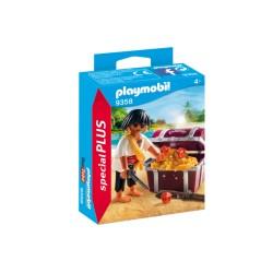 PLAYMOBIL ESPECIAL PLUS 9358 PIRATA CON TESORO