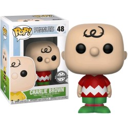 FIGURA POP CHARLIE BROWN  HOLIDAY EXCLUSIVE