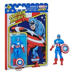 HASBRO MARVEL LEGENDS RETRO COLLECTION 10 CM - CAPITAN AMERICA