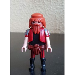 PLAYMOBIL FIGURA PIRATA CON BARBA NARANJA LARGA