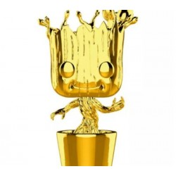 FUNKO POP MARVEL CHROME DORADO - GROOT