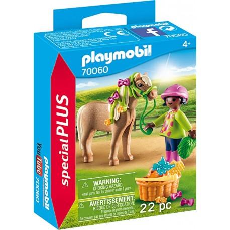 PLAYMOBIL 70060 ESPECIAL PLUS NIÑA CON PONY