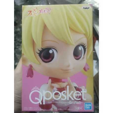 banpresto Fresh Pretty Cure! Minifigura Q Posket Cure Peach Ver. A 14 cm