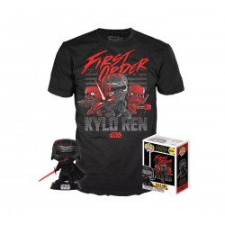 FUNKO POP & TEE SET FIGURA Y CAMISETA EXCLUSIVAS STAR WARS KYLO REN GLOW IN THE DARK