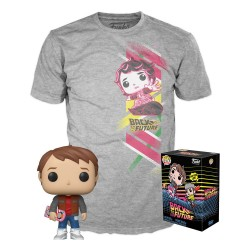 FUNKO POP & TEE SET FIGURA Y CAMISETA EXCLUSIVAS REGRESO AL FUTURO