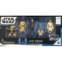 HASBRO Star Wars Celebrate the Saga Pack de 5 Figuras The Jedi Order 10 cm