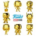 FUNKO POP MARVEL SERIE CROMADOS COLOR DORADO